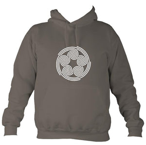 Celtic Five Spirals Hoodie-Hoodie-Mocha brown-Mudchutney