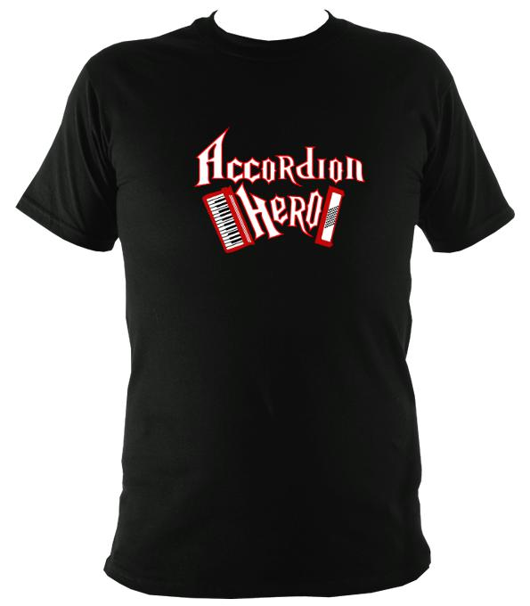 Accordion Hero T-shirt - T-shirt - Black - Mudchutney