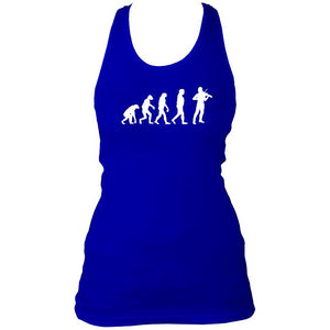 Evolution of Fiddle Players Ladies Racerback Vest