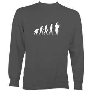 Evolution of Bagpipe Players Sweatshirt