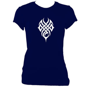 update alt-text with template Woven Tribal Tattoo Ladies Fitted T-shirt - T-shirt - Navy - Mudchutney