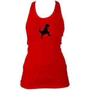 Red dancing dinosaur women's vest