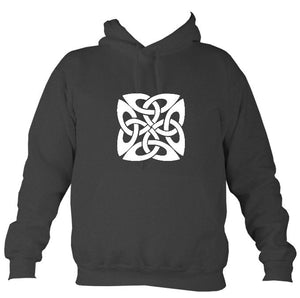 Celtic Square-ish Design Hoodie-Hoodie-Charcoal-Mudchutney