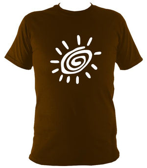 Tribal Eye T-shirt - T-shirt - Dark Chocolate - Mudchutney