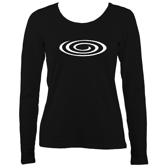 Flattened Spiral Ladies Long Sleeve T-shirt