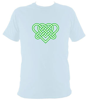 Celtic Triple Hearts Knot T-shirt - T-shirt - Light Blue - Mudchutney