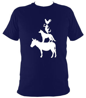 Animal Band T-shirt - T-shirt - Navy - Mudchutney