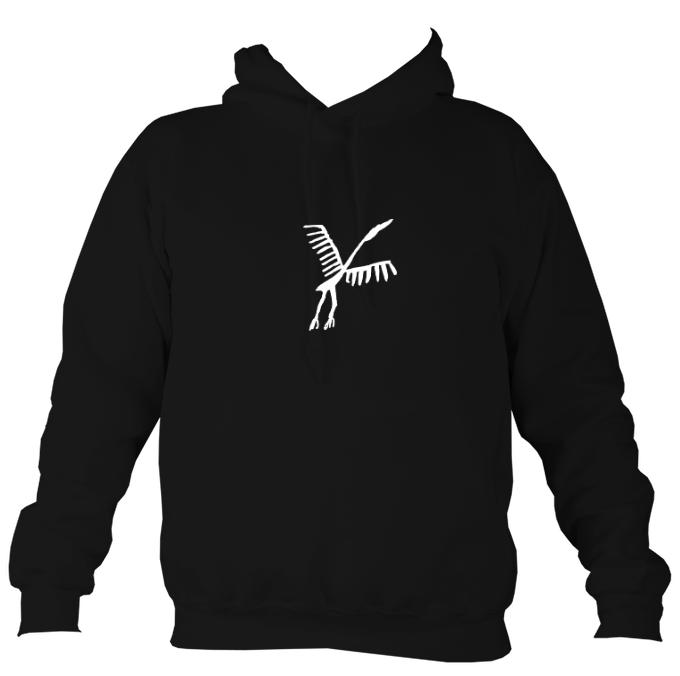 Ancient Spanish Cave Bird Hoodie-Hoodie-Jet black-Mudchutney