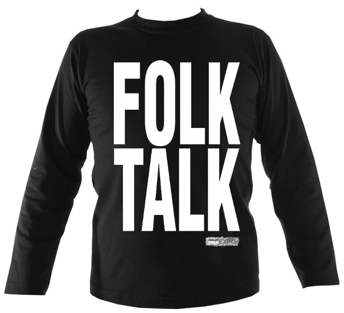 """Folk Talk"" EFEx Mens Long Sleeve Shirt - Long Sleeved Shirt - Black - Mudchutney"