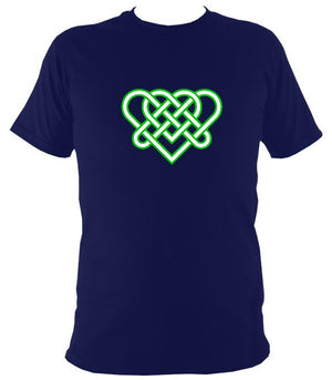 Celtic Triple Hearts Knot T-shirt - T-shirt - Navy - Mudchutney