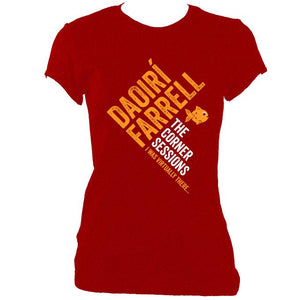 "update alt-text with template Daoiri Farrell ""Corner Session - Fish"" Women's Fitted T-shirt - T-shirt - Antique Cherry Red - Mudchutney"