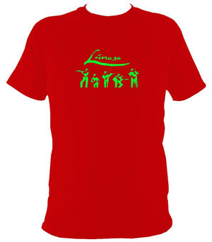 Lúnasa Irish Band T-shirt - T-shirt - Red - Mudchutney