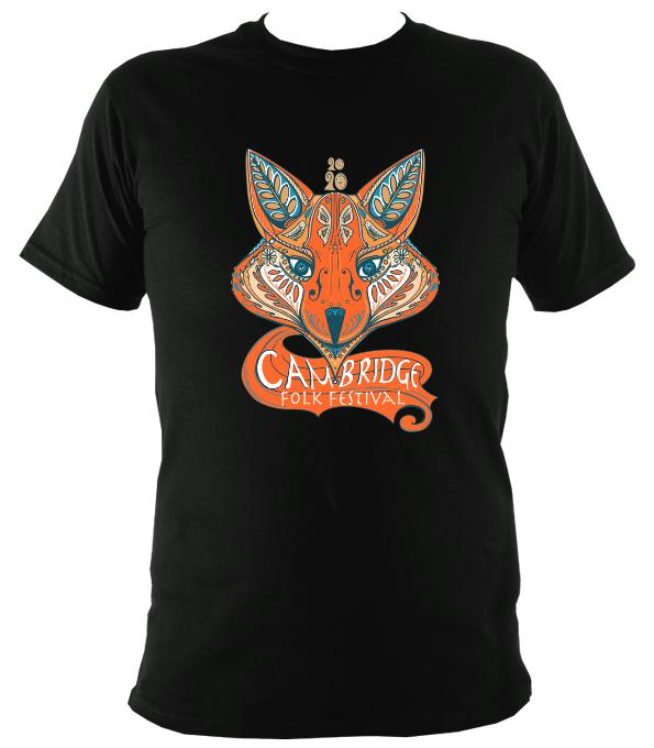 Cambridge Folk Festival - Design 7 - T-shirt - T-shirt - Black - Mudchutney