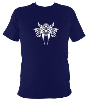 Tribal Sabre Tooth T-Shirt - T-shirt - Navy - Mudchutney