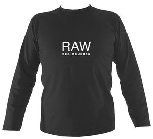 "Reg Meuross ""Raw"" Mens Long Sleeve Shirt - Long Sleeved Shirt - Charcoal - Mudchutney"