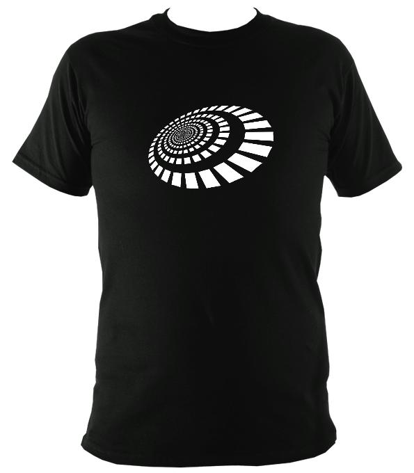 Spiral Blocks T-shirt - T-shirt - Black - Mudchutney