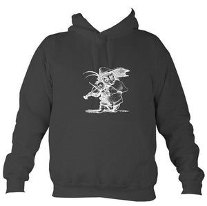 Fiddle Playing Goblin Hoodie-Hoodie-Charcoal-Mudchutney