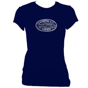 update alt-text with template Lachenal Concertina Logo Ladies Fitted T-shirt - T-shirt - Navy - Mudchutney