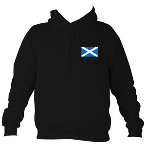 Scottish Saltire Flag Hoodie-Hoodie-Jet black-Mudchutney