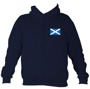 Scottish Saltire Flag Hoodie-Hoodie-Oxford navy-Mudchutney