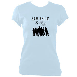 update alt-text with template Sam Kelly and the Lost Boys Ladies Fitted T-shirt - T-shirt - Light Blue - Mudchutney
