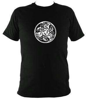Celtic Tribal Spiral T-shirt - T-shirt - Black - Mudchutney