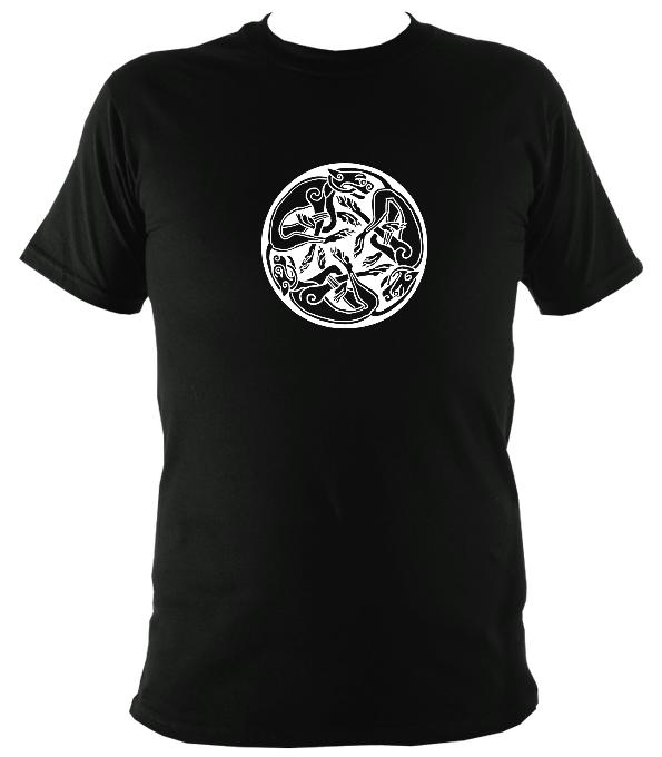 Celtic Tribal Spiral T-shirt - T-shirt - Dark Chocolate - Mudchutney