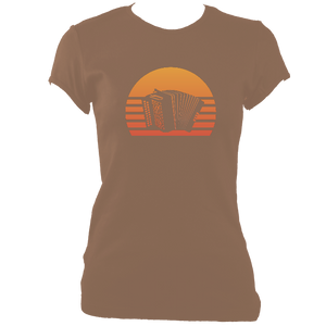 Melodeon Sunset Women's Fitted T-shirt