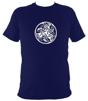 Celtic Tribal Spiral T-shirt - T-shirt - Navy - Mudchutney