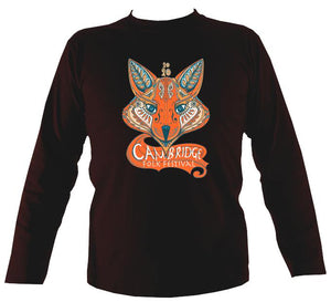 Cambridge Folk Festival - Design 7 - Mens Long Sleeve Shirt - Long Sleeved Shirt - Dark chocolate - Mudchutney