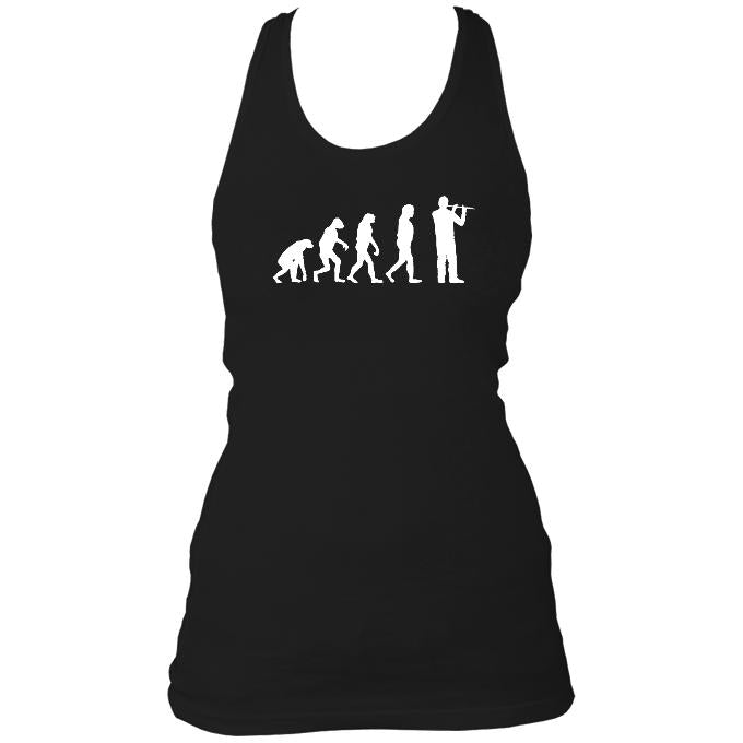 Evolution of Flute Players Ladies Racerback Vest