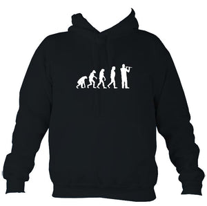Evolution of Flute Players Hoodie-Hoodie-French navy-Mudchutney