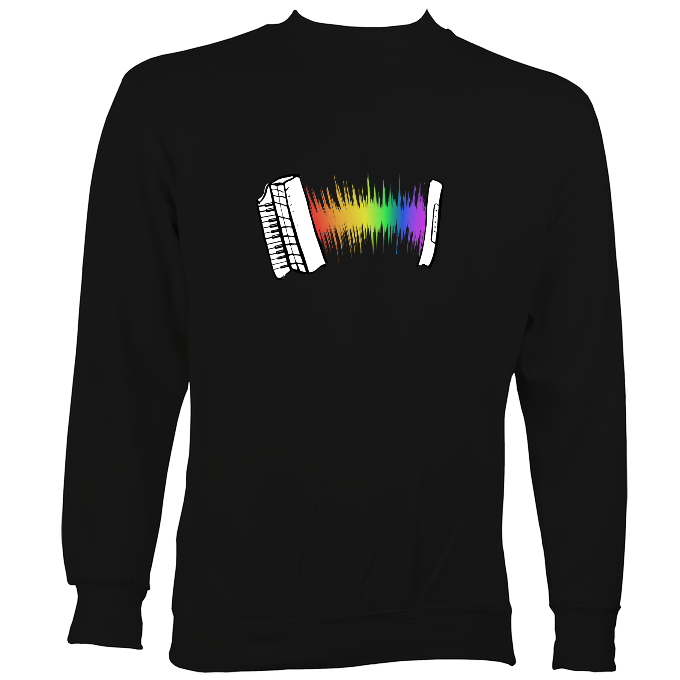 Rainbow Sound Wave Piano Accordion Hoodie