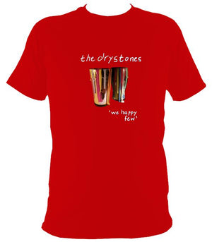 "The Drystones ""We Happy Few"" T-shirt - T-shirt - Red - Mudchutney"