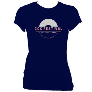 update alt-text with template Ciaran's Corona Collabs Ladies Fitted T-shirt - T-shirt - Navy - Mudchutney