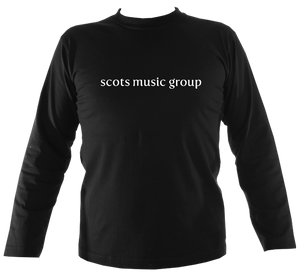 "Scots Music Group ""Long Logo"" Mens Long Sleeve Shirt"