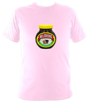 Melodeons - Love or Hate them T-shirt - T-shirt - Light Pink - Mudchutney