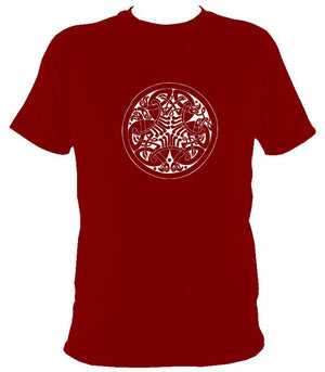 Traditional Celtic Birds T-shirt - T-shirt - Cardinal Red - Mudchutney