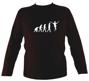 Evolution of Morris Dancers Mens Long Sleeve Shirt - Long Sleeved Shirt - Dark chocolate - Mudchutney