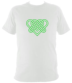 Celtic Triple Hearts Knot T-shirt - T-shirt - White - Mudchutney