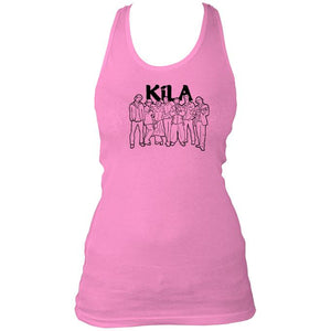 Pink Kila band sketch women's vest