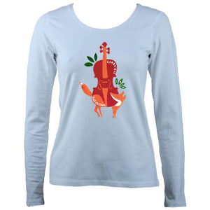 Cambridge Folk Festival - Design 3 - Women's Long Sleeve Shirt - Long Sleeved Shirt - Light blue - Mudchutney