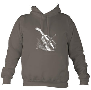 Fiddle and Bow Sketch Hoodie-Hoodie-Mocha brown-Mudchutney