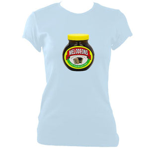 update alt-text with template Melodeons - Love or Hate them Ladies Fitted T-shirt - T-shirt - Light Blue - Mudchutney
