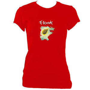 "update alt-text with template Flook ""Haven"" Ladies Fitted T-Shirt - T-shirt - Red - Mudchutney"