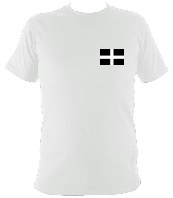 Cornish / Kernow St Pirans Flag T-Shirt - T-shirt - White - Mudchutney