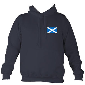 Scottish Saltire Flag Hoodie-Hoodie-Denim-Mudchutney
