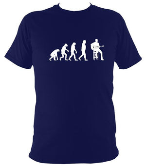 Evolution of Guitar Players T-shirt - T-shirt - Navy - Mudchutney