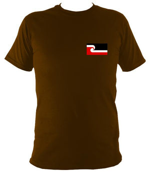 Maori Flag T-shirt - T-shirt - Dark Chocolate - Mudchutney