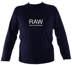"Reg Meuross ""Raw"" Mens Long Sleeve Shirt - Long Sleeved Shirt - Navy - Mudchutney"